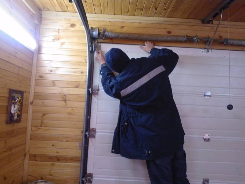 ремонт секционных ворот в харькове
