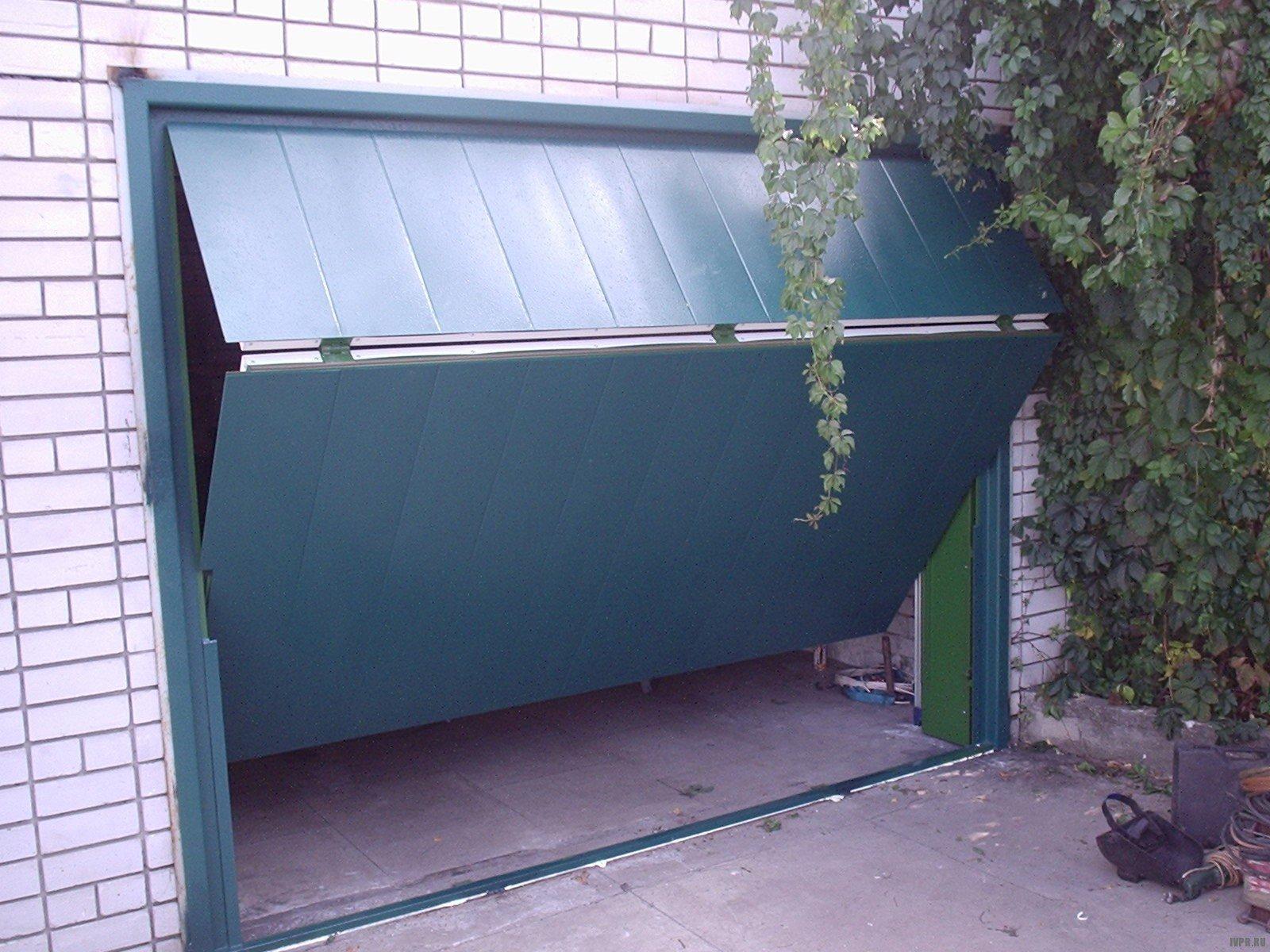 Подъёмные гаражные ворота своими руками - монтаж 24